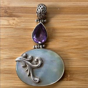Amethyst and Mother pearl pendant